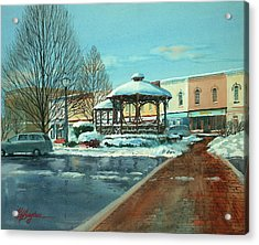 Triangle Park In Winter Acrylic Print