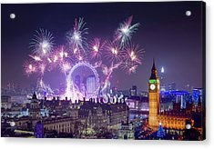 New Year Fireworks London Acrylic Print