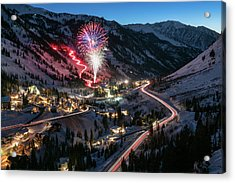 New Year's Eve At Snowbird Acrylic Print
