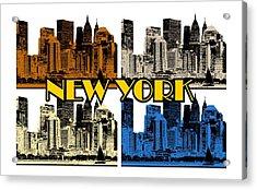 New York 4 Color Acrylic Print
