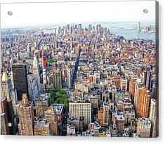 New York Aerial View Acrylic Print