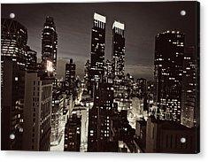New York After Dark Acrylic Print by Ariane Moshayedi