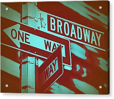 New York Broadway Sign Acrylic Print by Naxart Studio