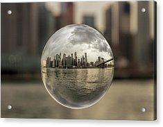New York Bubble Acrylic Print by Zev Steinhardt
