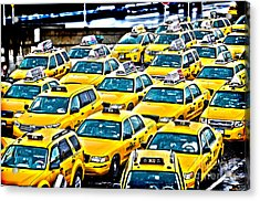 New York Cab Acrylic Print by Alessandro Giorgi Art Photography