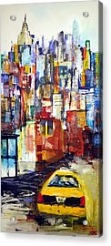 New York Cab Acrylic Print