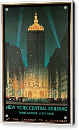 New York Central Building Acrylic Print by Chesley Bonestell