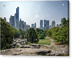 New York Central Park With Skyline Acrylic Print