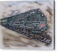 New York Central Train Acrylic Print by Kelly Mills