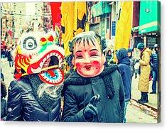 New York Chinatown Acrylic Print