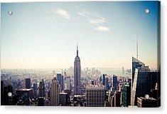 New York City - Empire State Building Panorama Acrylic Print
