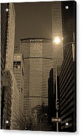 New York City 1982 Sepia Series - #7 Acrylic Print