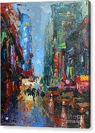 New York City 42nd Street Painting Acrylic Print by Svetlana Novikova