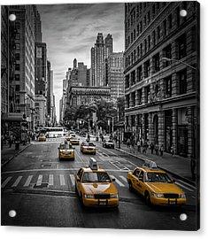 New York City 5th Avenue Traffic Acrylic Print by Melanie Viola