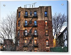 New York City Apartments Acrylic Print by Randy Aveille