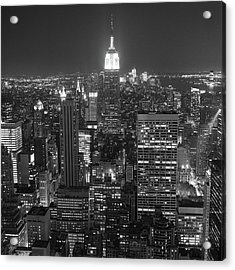 New York City At Night Acrylic Print by Adam Garelick