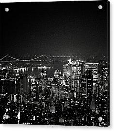 New York City At Night Acrylic Print by Image - Natasha Maiolo