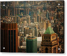 New York City Buildings And Skyline Acrylic Print by Vivienne Gucwa