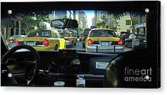New York City Cab Ride Acrylic Print