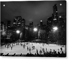 New York City - Central Park 005 Bw Acrylic Print by Lance Vaughn