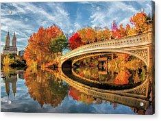 New York City Central Park Bow Bridge Acrylic Print