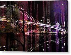 New York City Acrylic Print by Christine Mayfield