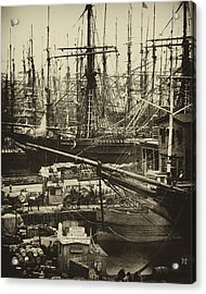 New York City Docks - 1800s Acrylic Print by Paul W Faust -  Impressions of Light