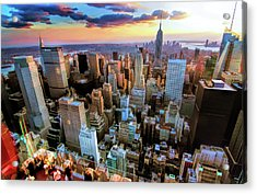New York City Downtown Manhattan Acrylic Print