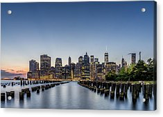 New York City Dusk Acrylic Print