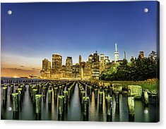 New York City From Brooklyn Acrylic Print