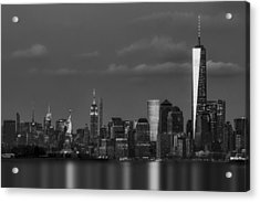 New York City Icons Bw Acrylic Print by Susan Candelario