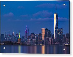 Acrylic Print featuring the photograph New York City Icons by Susan Candelario