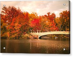 New York City In Autumn - Central Park Acrylic Print by Vivienne Gucwa