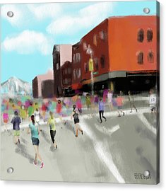 New York City Marathon Acrylic Print