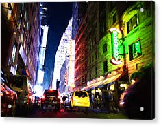 New York City Acrylic Print by Matthew Ashton