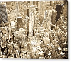 New York City Acrylic Print by Mickey Clausen