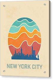 New York City Acrylic Print by Nicole Wilson