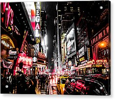 New York City Night II Acrylic Print by Nicklas Gustafsson