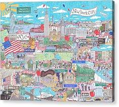 New York City On A Sunny Day Acrylic Print