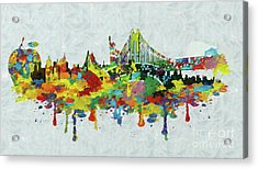 New York City Panorama Acrylic Print by Stefano Senise