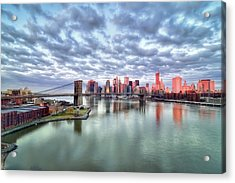 New York City Acrylic Print by Photography by Steve Kelley aka mudpig