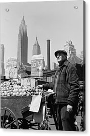 New York City, Push Cart Fruit Vendor Acrylic Print