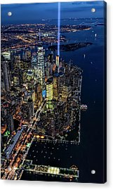 New York City Remembers 9-11 Acrylic Print by Susan Candelario