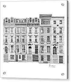 New York City Scene Acrylic Print by Hieu Tran