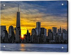 New York City Skyline At Dawn Acrylic Print