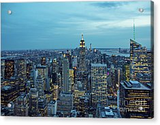New York City Skyline Acrylic Print by Joan McCool