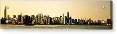 New York City Skyline Panorama Acrylic Print by Vivienne Gucwa