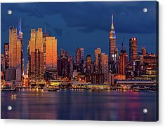 Acrylic Print featuring the photograph New York City Skyline Pride by Susan Candelario
