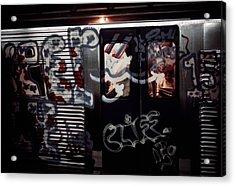 New York City Subway. A Subway Car Acrylic Print by Everett