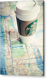 New York City Subway Map Acrylic Print by Kim Fearheiley